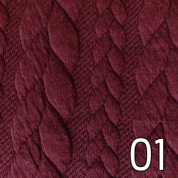 01- Sweat, geprägt, dunkelrot
