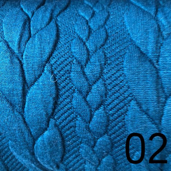 02 – Sweat, geprägt, blau