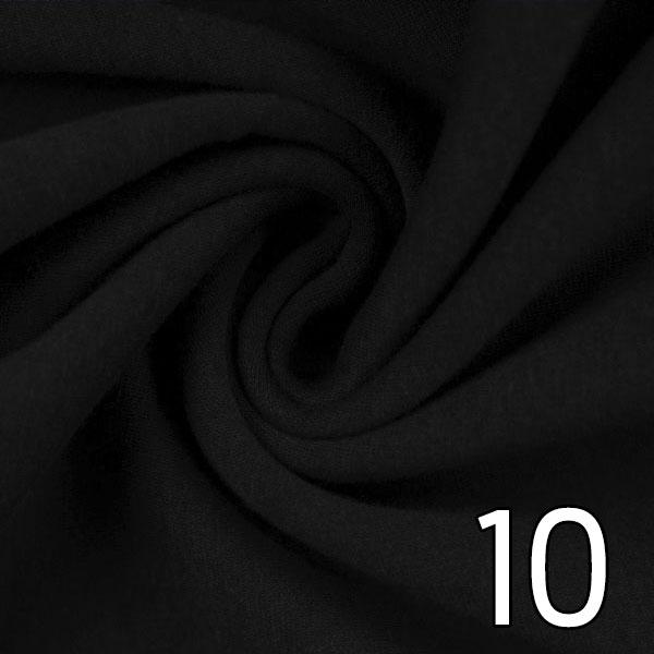 10 - Alpenfleece, uni, schwarz