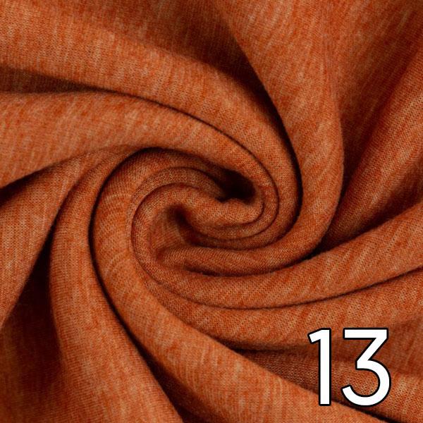 13- Alpenfleece, meliert, terracotta