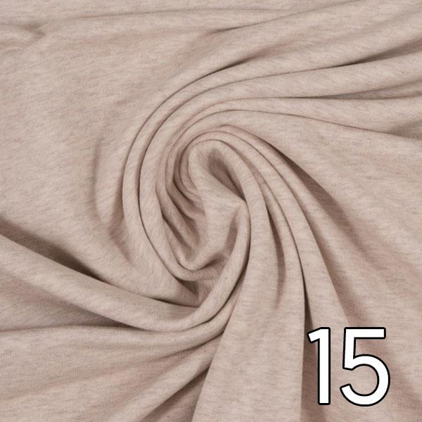 15 - Sweat, meliert, naturweiß