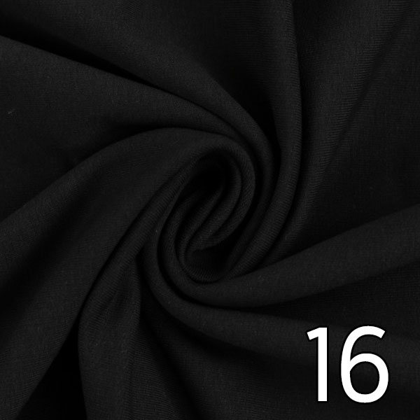 16 - Sweat, uni, schwarz