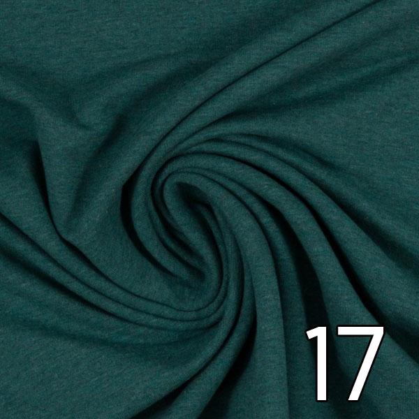 17 - Sweat, meliert, dunkelgrün