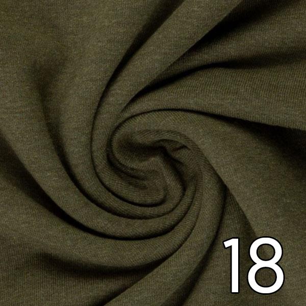 18 - Sweat, meliert, khaki