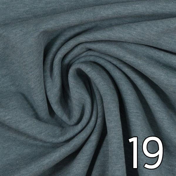 19 - Sweat, meliert, rauchblau