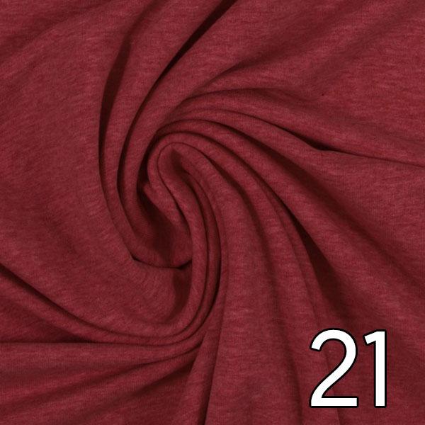 21 - Sweat, meliert, burgundy
