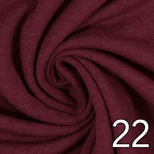 22 - Sweat, meliert, bordeaux