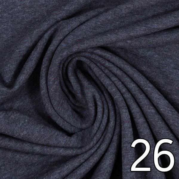 26 - Sweat, meliert, dunkelblau