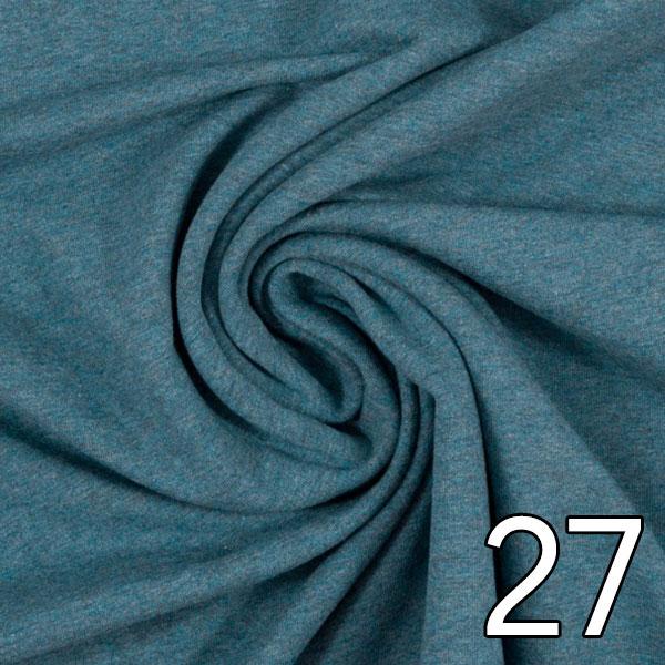 27 - Sweat, meliert, petrol