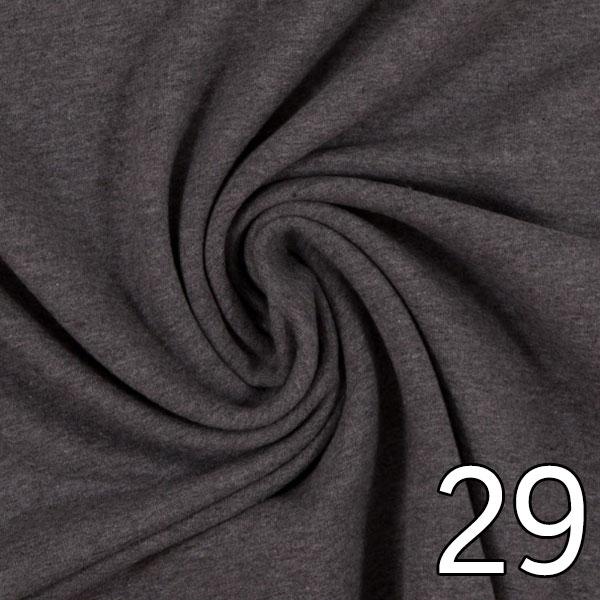 29 - Sweat, meliert, dunkelgrau