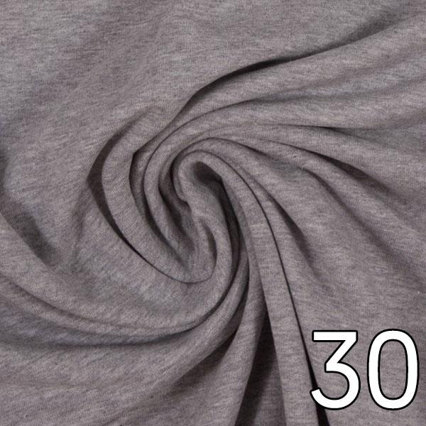 30 - Sweat, meliert, hellgrau
