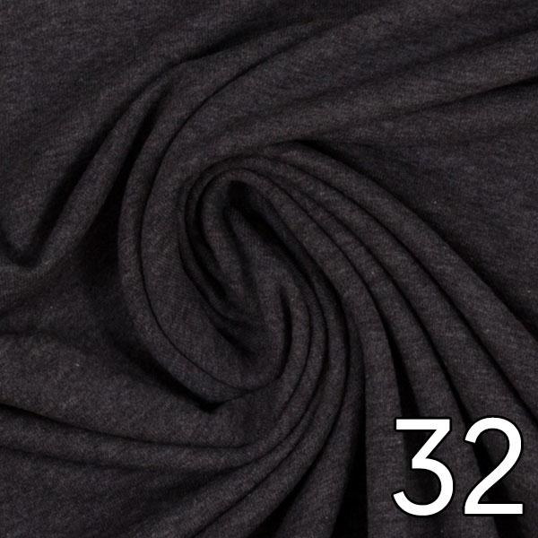 32 - Jersey, meliert, anthrazit