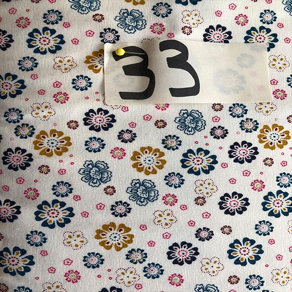 33 - Jersey, Blumen, creme/weiß