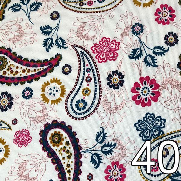 40 - Jersey Paisley, creme/weiß