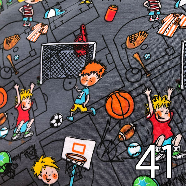 41 - Jersey; Kids Sport, grau
