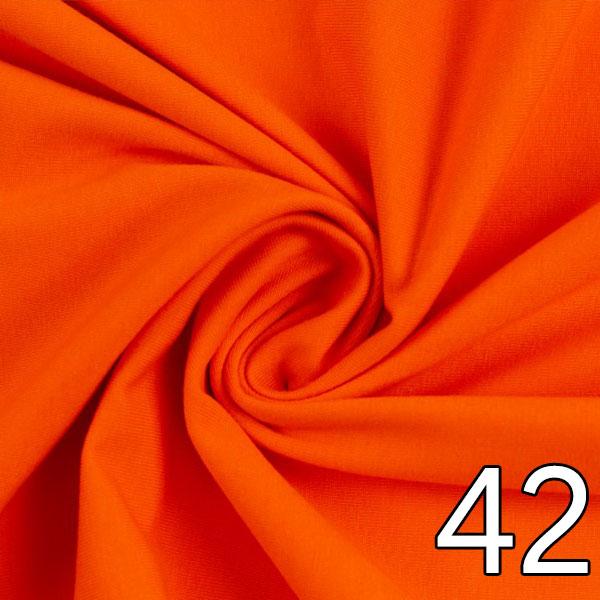 42 - Jersey, uni, orangepassend zu 41