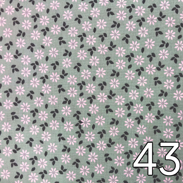 43 - Baumwollserie Blumen, mint