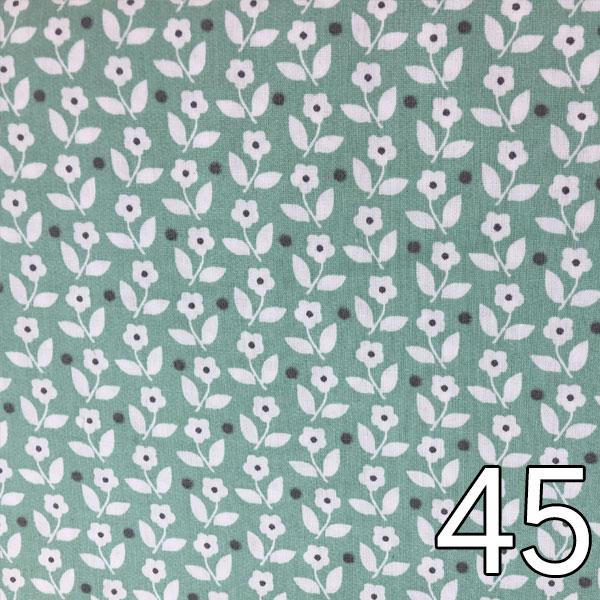 45 - Baumwollserie Blumen, mint