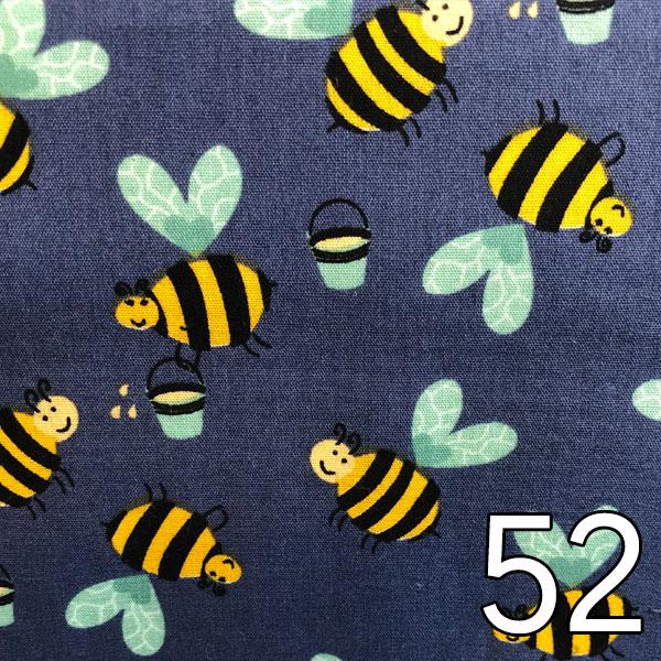 52 - Baumwolle Bienen, blau