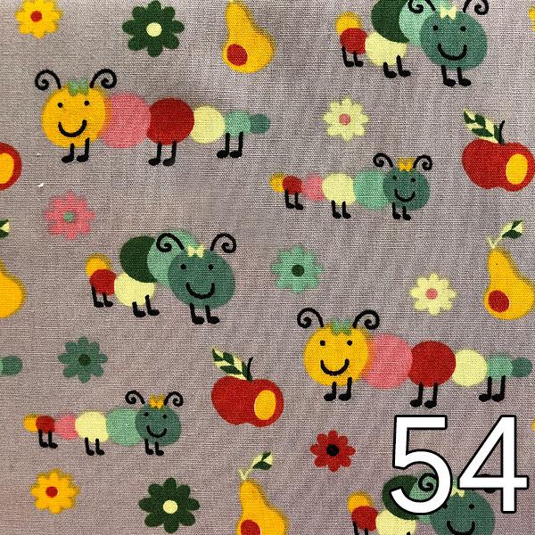 54 - Baumwolle Raupe, grau
