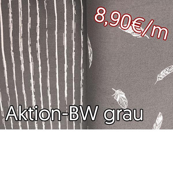 Aktion Baumwolle grau